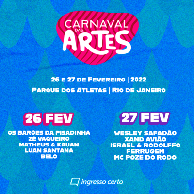 Carnaval das Artes - 26/02
